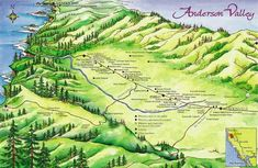 You have to go through Anderson Valley to get there...darn all those wineries!  :)