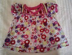 Hanna Andersson Baby Girl Dress Tunic Top 80 18-24M Pink Purple Flowers #HannaAndersson #Everyday