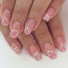 Gel nails Source by jaunaslaetitia Fabulous Nails, Gorgeous Nails, Pretty Nails, Hot Nails, Pink Nails, Hair And Nails, Beautiful Nail Designs, Beautiful Nail Art, Bridal Nails