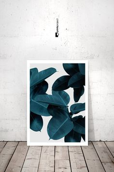 Tropical Leaf Print Plant Prints Modern Art by PrintsProject