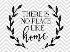 There is No Place Like Home Laurel farmhouse wood sign home sweet home SVG file - Cut File - Cricut projects - cricut ideas - cricut explore - silhouette cameo projects - Silhouette projects by KristinAmandaDesigns on Etsy