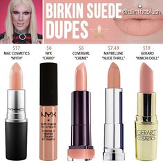 """""""Mi piace"""": 7,701, commenti: 72 - All in the Blush (@allintheblush) su Instagram: """"BIRKIN SUEDE DUPES Please continue to leave me your dupe requests for his Summer Lipsticks in the…"""""""