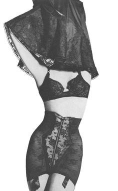 Vintage Black Lace Lingerie