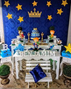 Niver Prince Birthday Theme, King Birthday, Baby Birthday, 1st Birthday Parties, Birthday Party Decorations, Baby Shower Decorations, Party Themes, Little Prince Party, The Little Prince