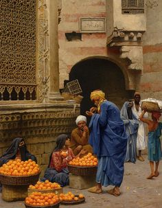 On a wall: Orange Seller - Marchande d'oranges by Ludwig Deutsch. Enzie Shahmiri, via Flickr