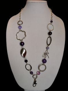 Purple and Silver Lanyard. $15.00, via Etsy.