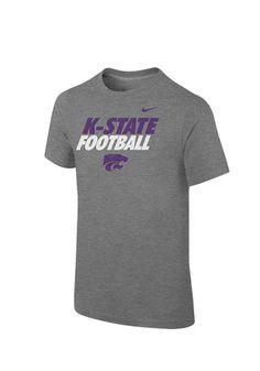 Nike K-State Wildcats Kids Grey Practice T-Shirt