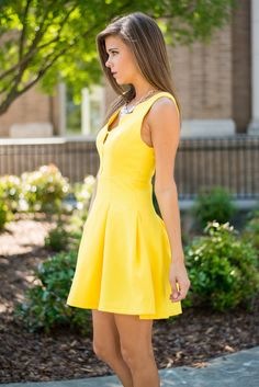 """Sunny Days Dress, Lemon"""