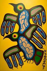 Art for sale from artist Norval Morrisseau - Thunderbirds. South American Art, Native American Artwork, American Modern, Native Canadian, Canadian Artists, Woodland Art, Haida Art, Inuit Art, Indigenous Art