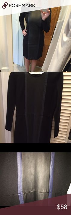 💥💥💥LAST CHANCE!  Price Drop!!! J💥💥💥LAST CHANCE!  Price Drop!!! J Crew faux Leather Detail Dress, NWOT, never worn. Unfortunately this beauty is too small!  It looks great on!  👍🏻Reasonable offers 🚫Trades🚫Low Ball J crew Dresses