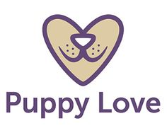 Puppy Love Logo design by SCR- Cute logo representing a puppy's face and a heart. Could be used for a vet, puppy training or pet grooming, or boarding. #puppy #dog #logo #pet #BrandCrowd