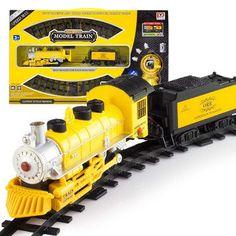 Kids electric Railway train Toys Classical Enlighten Train Track 17 pc – SilkRoads Online