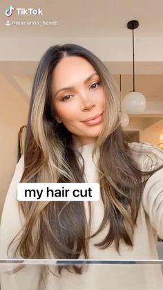 Brown Hair Balayage, Brown Blonde Hair, Hair Highlights, Haircuts For Long Hair, Hairstyles Haircuts, Marianna Hewitt Hair, Front Hair Styles, Honey Hair, Aesthetic Hair