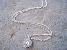 Bullet Necklace Clear by Sarahsjewelrydesigns on Etsy, $20.00