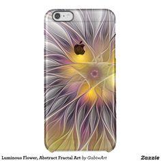 Luminous Flower, Abstract Fractal Art Clear iPhone 6 Plus Case