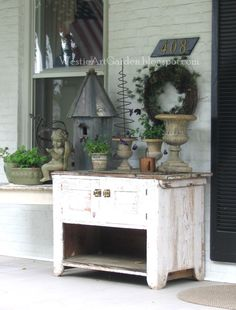 Westie, Art & Garden: Antiques on Country Porches