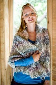 Make someone a beautiful prayer shawl. SIZE: One Size About 25 x 60 in. (63.5 x 152.5 cm) MATERIALS • 790-315 Lion Brand Homespun Yarn: Tu...