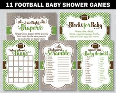 Football Baby Shower Games Football Baby Shower Football