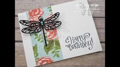 Stamp Your Art Out with Rachel: Detailed Dragonfly Closure Card - YouTube