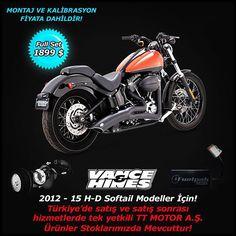 """VANCE & HANCE  Full Pack==>1899 $ 2012-2015 H-D Softail Modeller İçin  Türkiye'nin Tek Yetkili Distribitörü TT MOTOR'DAN!  Online Shop: ttcustomshop.net (0216) 541 91 90 - (0242) 349 28 30  Full Pack==>1899 $ We as TT MOTOR are Turkey's one and only authorized distributor for 2012-2015 H-D Softail Model!  #exhaust #vancehines #engine #motorbike #motorcycles #bike #bikestagram #bikelife #ride #race #rideout #road #rock #run #drive #design #safe #speed #style #lifestyle #limitededition #live"