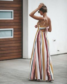 Simple Strokes Button Down Maxi Dress Classy Summer Outfits, Casual Day Dresses, Trendy Outfits, Dress Outfits, Fashion Outfits, Summer Dresses, Apron Dress, African Fashion Dresses, Spring Summer Fashion