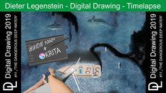 "Dieter Legenstein – Digital Painting 2019 / Picture ""The dangerous deep water"" Corel Painter, Cool Books, Deep Water, Painting & Drawing, Videos, Storytelling, Social Media, Drawings, Digital Paintings"