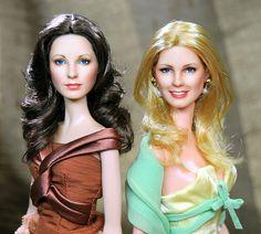 Custom Jaclyn Smith and Cheryl Ladd dolls Divas, Barbie Doll Accessories, Cheryl Ladd, Barbie Fashionista, Jaclyn Smith, Barbie World, Fashion Dolls, American Girl, Doll Clothes