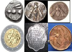 Bees were valuable before money was invented; they have been symbols on money from ancient to modern times.