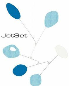 """Jetset"" Baby Boy Nursery Mobile Modern Retro Handmade Dwell Atomic Chic Eames | eBay"