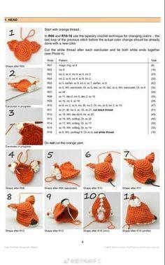 How to fasten off closed crochet projects Crochet Applique Patterns Free, Animal Knitting Patterns, Crochet Cat Pattern, Crochet Patterns Amigurumi, Crochet Dolls, Crochet Deer, Crochet For Boys, Tapestry Crochet, Crochet Doll Tutorial