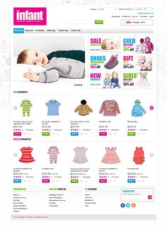 Infant Baby Magento Themes by Hermes