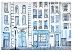 Paris print illustration home decor paris gift romantic