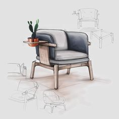 Small accent chairs for living room tommybahamabeachchair fo Interior Design Sketches, Industrial Design Sketch, Interior Architecture Drawing, Interior Design Portfolios, Small Accent Chairs, Accent Chairs For Living Room, Dining Room, Chair Design, Furniture Design