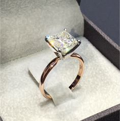 Buy Women's Fashion 925 Solid Sterling Silver Natural Gemstone White Sapphire Ring Bride Wedding Engagement Ring Set Fine Jewelry Size 6 7 8 9 10 at Wish - Shopping Made Fun Classic Engagement Rings, Engagement Jewelry, Wedding Jewelry, Wedding Engagement, Gold Jewelry, Jewelry Rings, Jewellery, Women Jewelry, Gold Bracelets