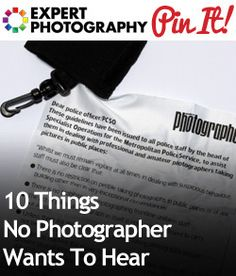 "10 Things No Photographer Wants To Hear - I'm not even a ""pro"" but I could relate to MANY of these!"