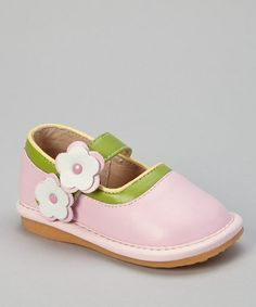 Take a look at this Light Pink & Green Gabby Mary Jane by Pippytoes on #zulily today!