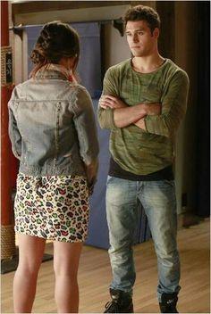 Lucy Hale and Ryan Guzman in Pretty Little Liars