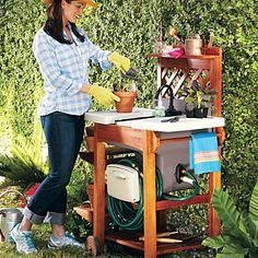 Outdoor Garden Sink Work Station Gardens Work stations and Sinks