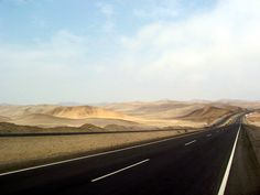 Driving the Pan-American Highway in the Sechura Desert, Peru,  A hot, dry world of 120F in the sun.