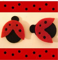 ladybug felt clip
