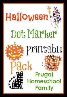 Halloween Dot Marker Printable Pack - Frugal Homeschool Family