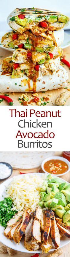Thai Peanut Chicken Avocado Burritos                                                                                                                                                                                 More