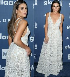 Lea Michele in Elie Saab at the 27th GLAAD Media Awards