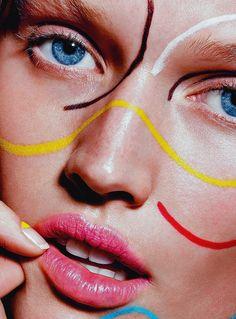 "furples: "" i-D Winter 2014 Model: Toni Garrn Photography: Richard Burbridge Make-up: Isamaya Ffrench """