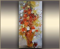 Floral Abstract Art Colorful Modern Oil Painting Flowers Abstract Painting ORIGINAL Abstract Art Red Bouquet, Wall Art Painting, Tatjana, TR by OriginalPaintingsTR on Etsy https://www.etsy.com/ca/listing/100103947/floral-abstract-art-colorful-modern-oil