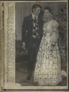 1970 Press Photo Wyatt Cooper Gloria Vanderbilt International Best Dressed 1969