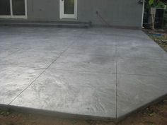 cement patio designs | Stamped Concrete - Patio - Italian Slate