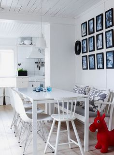 I like this type of bench for our dining table