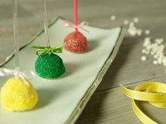 Receta de Mini Manzanas cubiertas de Chocolate y Azúcar