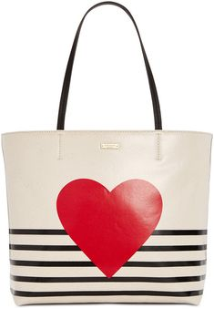 kate spade new york Yours Truly Heart Stripe Hallie Medium Tote